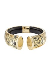 Alexis Bittar Gold Plated Cuff With Lucite Gold