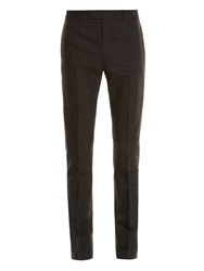Saint Laurent Wool And Cashmere Blend Trousers