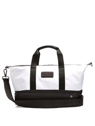 Adidas By Stella Mccartney Bi Colour Perforated Tote Bag White Black