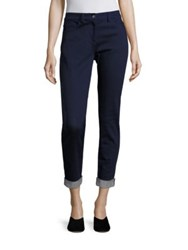 St. John Five Pocket Stretch Cropped Pants Indigo