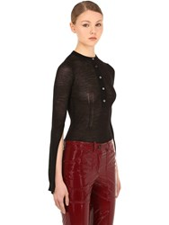 N 21 Cashmere And Silk Blend Knit Top Black