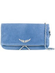 Zadig And Voltaire Rock Shoulder Bag Blue