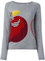 Chinti And Parker 'Maxi Apple' Jumper Grey