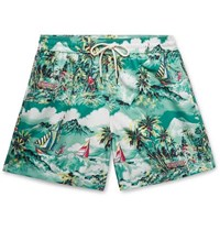 Polo Ralph Lauren Traveller Mid Length Printed Swim Shorts Green
