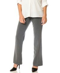 Motherhood Maternity Petite Flared Dress Pants Grey