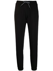 Dkny Cropped Track Trousers Black