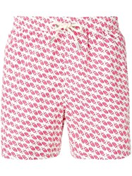Mc2 Saint Barth Icecream Print Shorts White