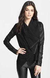Blank Nyc Women's Blanknyc 'Private Practice' Mixed Media Drape Front Jacket