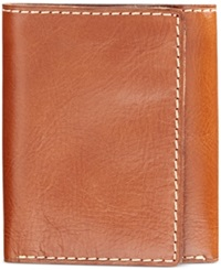Nash By Patricia Nash Men's Heritage Leather Trifold Wallet Tan