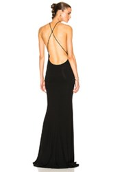 Alexandre Vauthier Cross Back Gown In Black