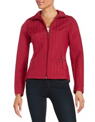 Weatherproof Quilted Lightweight Jacket Scarlet