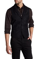 John Varvatos Peak Lapel Wool Vest Metallic