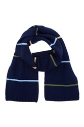Jack Spade Kelley Striped Scarf Blue