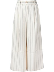 Grey Jason Wu Striped Culottes White