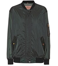 Burberry Mayther Technical Bomber Jacket Green