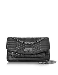 Zadig And Voltaire Black Quilted Leather Skinny Love Mat Shoulder Bag