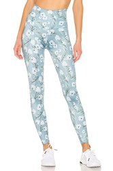 Beyond Yoga Lux Print High Waisted Midi Legging Blue