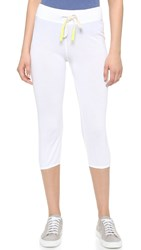 Sundry Light Terry Capri Sweatpants White