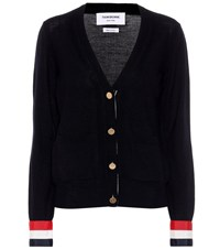 Thom Browne Merino Wool Cardigan Blue
