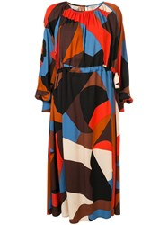 Stine Goya Printed Midi Dress Multicolour
