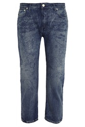 Acne Studios Pop Map Printed Low Rise Boyfriend Jeans