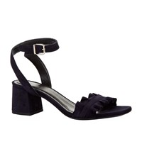 Claudie Pierlot Ruffle Strap Sandals Blue