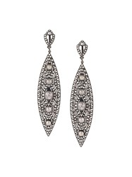 Loree Rodkin Diamond Tear Drop Earrings Grey