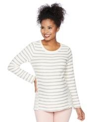 Motherhood Maternity Striped Crew Neck Sweatshirt