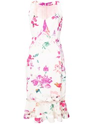 Ungaro Emanuel Fitted Floral Dress White