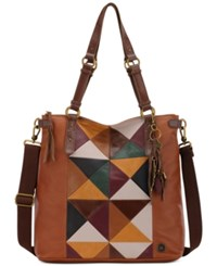 The Sak Ashland Convertible Patchwork Tote Brown Patch