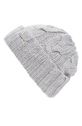 Women's Michael Michael Kors Cable Knit Cuff Beanie Grey Pearl Heather Grey