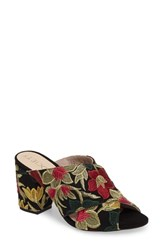 Sole Society Luella Flower Embroidered Slide Gold Embroidery Textile