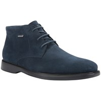 Geox Brayden Amphibiox Waterproof Leather Chukka Boots Navy