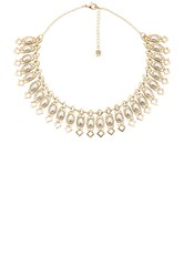House Of Harlow Lady Grace Collar Necklace Metallic Gold