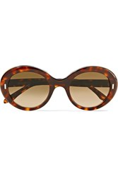 Cutler And Gross Round Frame Tortoiseshell Acetate Sunglasses One Size
