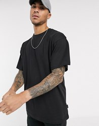 Soul Star Organic Cotton Oversized T Shirt Co Ord In Black