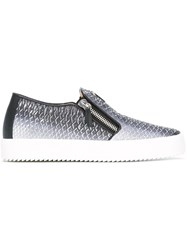 Giuseppe Zanotti Design Snakeprint Slip On Sneakers Grey