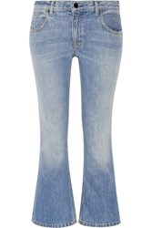 Alexander Wang Cropped Mid Rise Bootcut Jeans Light Denim