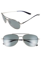 Men's Kaenon 'Driver' 60Mm Polarized Sunglasses Chrome Grey G12