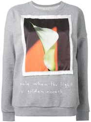 Each X Other Alessandra D'urso Print Sweatshirt Grey