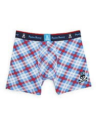 Psycho Bunny Plaid Boxer Briefs Larkspur