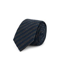 Alexander Olch Striped Wool Necktie Gray