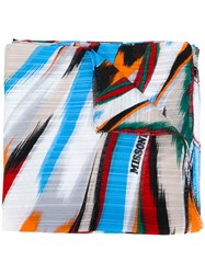 Missoni Brush Stroke Print Scarf Women Silk One Size White