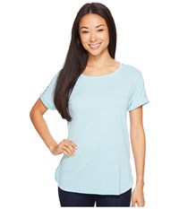 Columbia Crystal Point Short Sleeve Shirt Iceberg Heather Women's Short Sleeve Pullover Blue