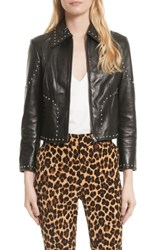 Frame Women's Studded Leather Jacket Noir