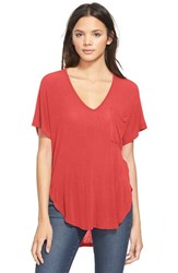 Women's Lush Knit Tee Rocco Red