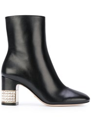 Gucci Stone Ankle Boots Women Leather 36 Black