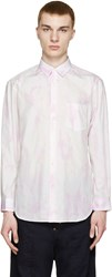 Comme Des Garcons Pink And White Tie Dye Shirt