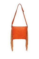 Carlos Santana Felicity Fringe Crossbody Orange