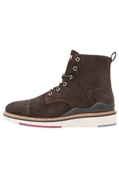 Napapijri C4 Laceup Boots Dark Brown
